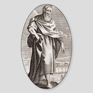 Zeno of Citium, Greek philosopher Sticker (Oval)