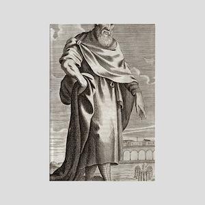 Zeno of Citium, Greek philosopher Rectangle Magnet
