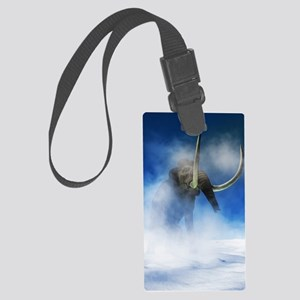 Woolly mammoth, artwork Large Luggage Tag