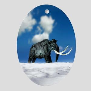 Woolly mammoth, artwork Oval Ornament