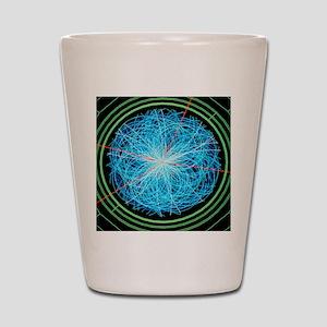 Simulation of Higgs boson production Shot Glass