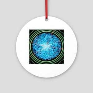 Simulation of Higgs boson productio Round Ornament