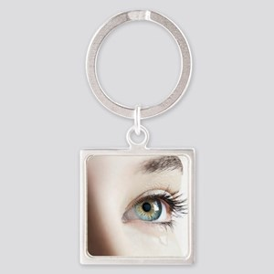 Woman's eye Square Keychain