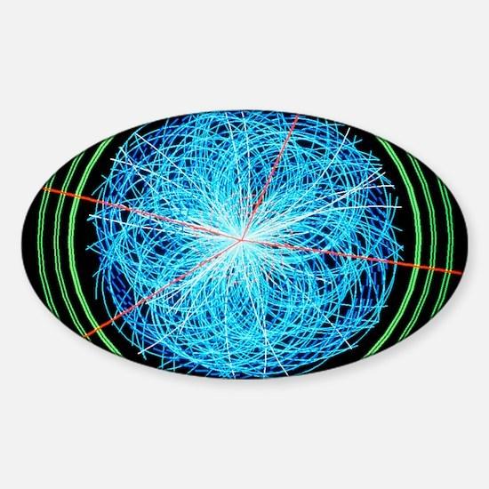Simulation of Higgs boson productio Sticker (Oval)