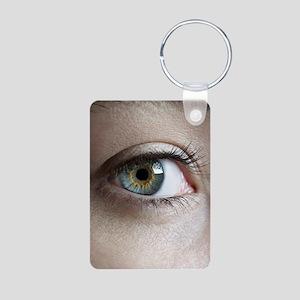 Woman's eye Aluminum Photo Keychain