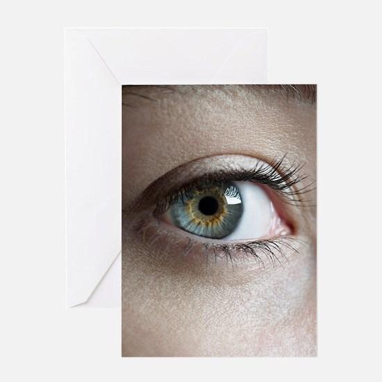 Woman's eye Greeting Card
