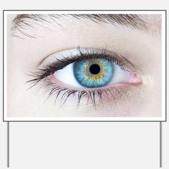 Woman's eye Yard Sign