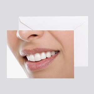 Woman's mouth Greeting Card