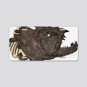 Xiphactinus fossil fish Aluminum License Plate