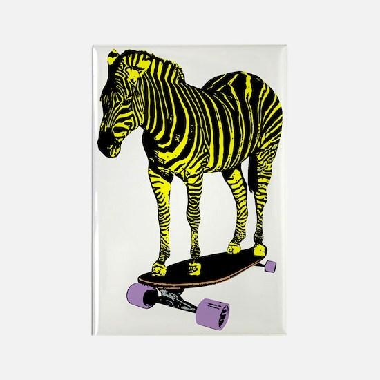 zebra skate Rectangle Magnet