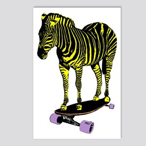 zebra skate Postcards (Package of 8)