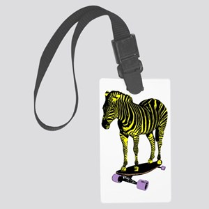 zebra skate Large Luggage Tag