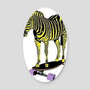 zebra skate Oval Car Magnet