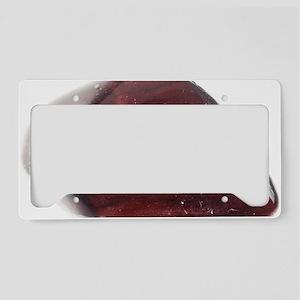 Red Jasper License Plate Holder