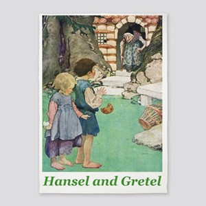 Hansel and Grete_green 5'x7'Area Rug