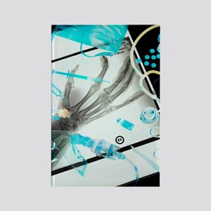 Medical treatment, conceptual ima Rectangle Magnet