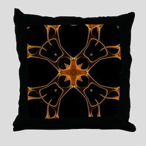 Neurons, kaleidoscope artwork Throw Pillow