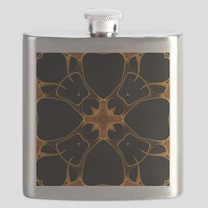 Neurons, kaleidoscope artwork Flask