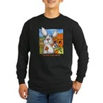 Cartoon Rabbit Carrot Long Sleeve Dark T-Shirt