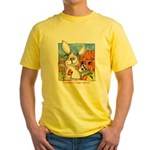 Cartoon Rabbit Carrot Yellow T-Shirt