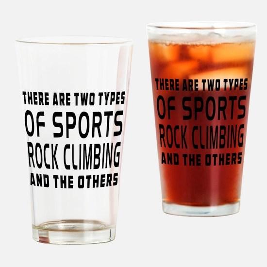 Rock Climbing Designs Drinking Glass