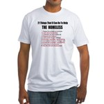 21Things U Can Do Help The Homeless Fitted T-Shirt