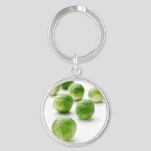 Brussels sprouts Round Keychain