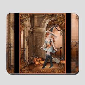Beautiful Fall Witch 1 Mousepad