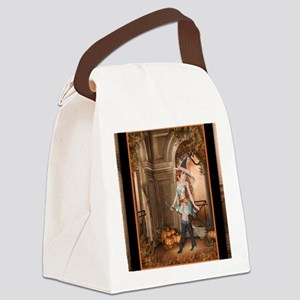 Beautiful Fall Witch 1 Canvas Lunch Bag