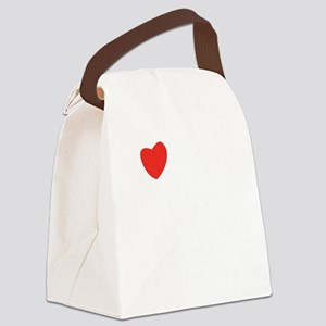 I heart conjugation Canvas Lunch Bag