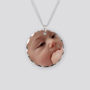 Baby girl Necklace Circle Charm