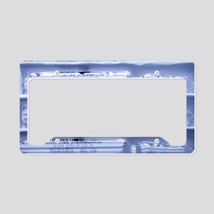 Caviar glass ampoules License Plate Holder