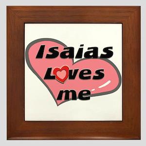 isaias loves me  Framed Tile