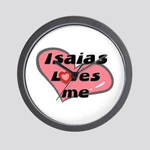 isaias loves me  Wall Clock