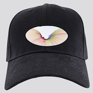 Abstract line pattern Black Cap