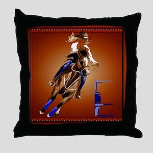 Barrel Horse Throw Pillow