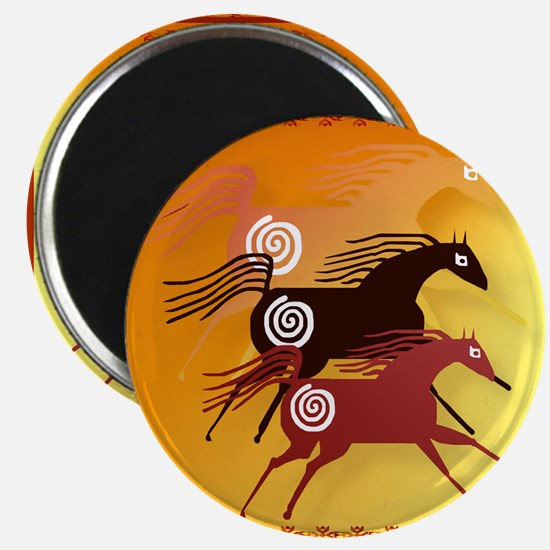 Three Ancient Horses Magnet