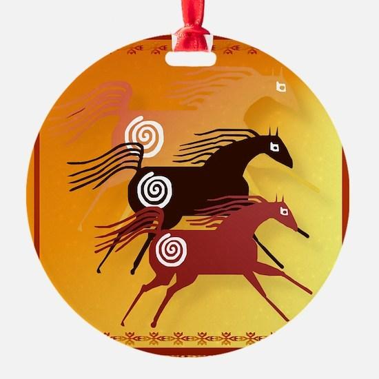 Three Ancient Horses Ornament