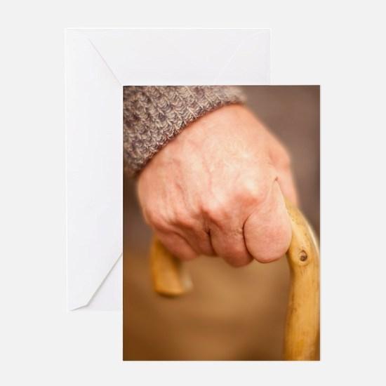 Walking stick use Greeting Card