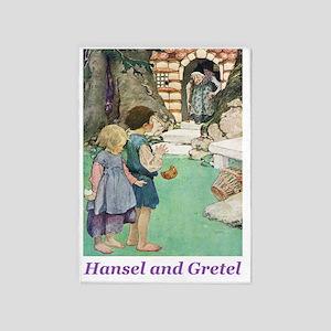Hansel and Grete_purple 5'x7'Area Rug