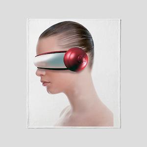 Virtual reality headset Throw Blanket