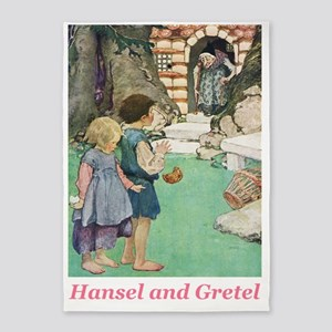 Hansel and Gretel_pink 5'x7'Area Rug