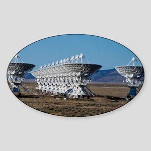 (12) Very Large Array 7511 Sticker (Oval)