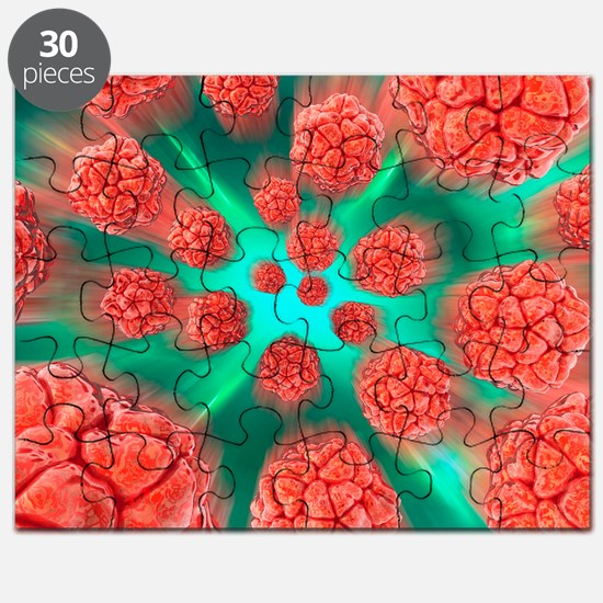 Viral infection, conceptual artwork Puzzle