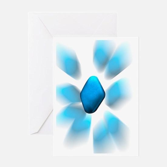 Viagra pills, artwork Greeting Card