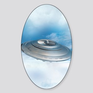 UFO, artwork Sticker (Oval)