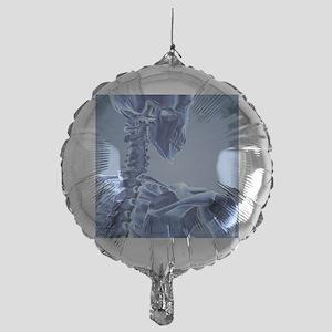 Upper body skeleton,computer artwork Mylar Balloon