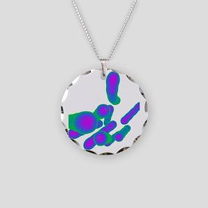 Tuberculosis bacteria, artwo Necklace Circle Charm
