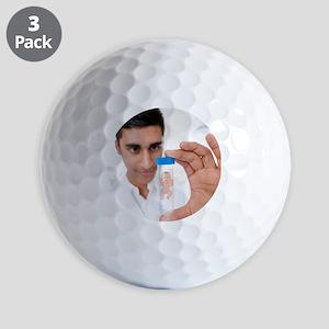 Test tube baby, conceptual image Golf Balls