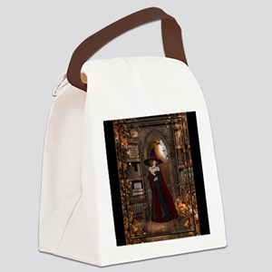 Witch in Library Canvas Lunch Bag